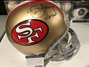 STEVE YOUNG Auto Signed Full Size Riddell Replica Helmet San Francisco 49ers PSA