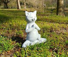 Meditating Cat Statue, Concrete Statues,