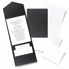 Hortense B Hewitt Black Shimmer, Pocket Invitation Kit 10719 New