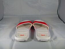 Everlast mens red and white flip flops 9.5 used but good condition
