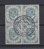 Bundesrepublik Posthorn 50 Pfennig Vierblock gestempelt Michel 134 Rundstempel