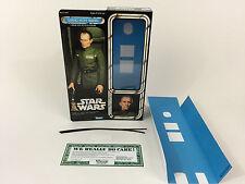 """Custom Vintage Star Wars 12"""" Grand Moff Tarkin Caja + Insertos"""