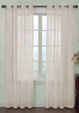 "1 Threshold Pom Stripe Window Panel Curtain Sheer Gray 108"" NWOT"