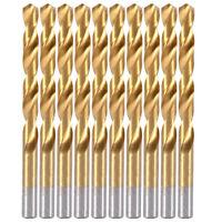 """10PCS 3/32""""x2-1/4"""" Titanium Drill Bits Set HSS Jobber Length Metal Drill Bit"""
