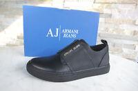 ARMANI JEANS Sneakers 39 Slipper Slip-Ons Schuhe 6A518 schwarz NEU ehem UVP 170€