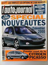 L'AUTO-JOURNAL  de 11/1999; Essai Citroen Picasso/ Tarif Option 2500 modèles