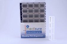 Medisure 7 Day (Weekly) Jumbo Large Pill Box with 28 Compartments