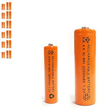 12 AAA 12 AA 1800mAh 3000mAh Ni-MH rechargeable battery Solar Light MP3 Orange