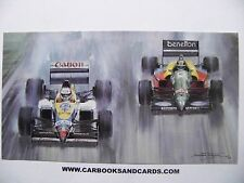 MICHAEL TURNER CARD FORMULA 1 GP : MANSELL / WILLIAMS & NANNINI / BENETTON F1