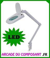 LAMPE LOUPE DE TABLE 5 DIOPTRIES AVEC ECLAIRAGE A LED Poids 4,4Kg
