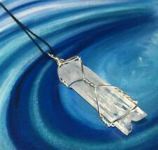 NATROLITE CRYSTAL NECKLACE! Hand Wrapped 925 Sterling Silver Synergy 12 Pendant
