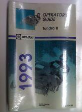 1993 Ski-doo Tundra II  Operators Manual Guide (414817400)