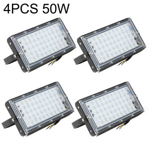 4XLED Security Floodlight Flood Lights 50W Garden Waterproof Lamp Indoor Outdoor