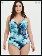 Torrid Blue Ocean One Piece Swimsuit size 1X 1 14 / 16