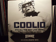 "COOLIO - IT'S ALL THE WAY LIVE (NOW) / 1,2,3,4 (REMIXES) (12"")  1996!!!  RARE!!!"