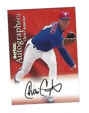 Chris Carpenter 2000 Skybox Autographics Card.# NA,Toronto Blue Jays