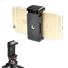 Smartphone Tripod Mount Adapter Universal Iphone Holder Clip Attachment Clamp