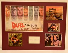 """""""Duel In The Sun"""" Collage with Lillian Gish Autograph (includes COA)"""