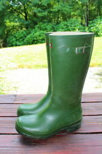 LL Bean Women's Green Vintage Wellie Boots Size 10 Good Condition