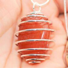 "Brazilian Carnelian Agate Crystal Perfect Pendant™ 20"" Silver Chain EMPOWER!"