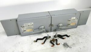 GE THFP361 30A 600V Twin Fusible Panelboard Switch w Hardware QMR-361 30 Amp