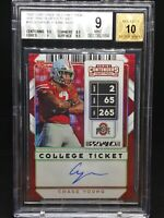 2020 Contenders Building Blocks #102B Chase Young Auto /5 SSP BGS 9 10