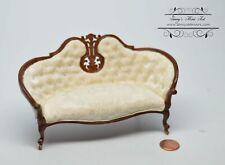 1:12 Dollhouse Miniature Victoria Sofa White AZ JJ31053WNM