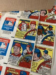 1979 Topps Baseball Card Comic Inserts Test Issue (33)playerComics Uncut3 Strips
