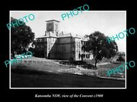 OLD LARGE HISTORIC PHOTO OF KATOOMBA NSW, VIEW OF THE CONVENT c1900