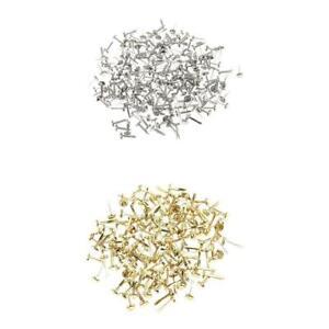 400x Gold Silber Metall Brad Papierverschluss für Scrapbooking Card Paper Craft