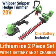 20V Lithium Cordless Snipper Grass Trimmer Hedge Trimmer 2 Piece Garden Tool Set