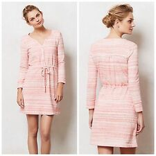 New Saturday Sunday Anthropologie Poppy Spacedye Dress Pink & White Knit XS