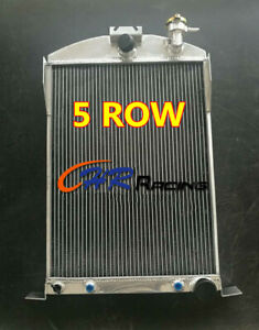 5 ROW Aluminum Radiator For Ford Car W/Chevy 350 V8 AUTO AT 1933-1934