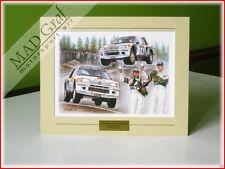 Peugeot 205 Turbo 16 rally Ari Vatanen Rally 1000 Lakes 1984 print MAD Graf