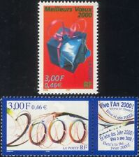"France 1999 Millennium/""2000""/New Year/Present  2v + lbl set (n46048)"