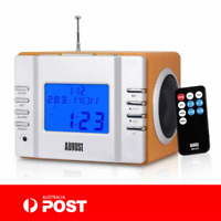 August Clock Radio with MP3 USB and SD or FM Station Alarm Clock AUG MB300