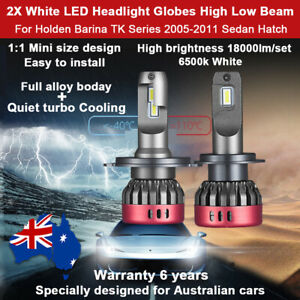 For Holden Barina TK Series 2005-2011 Headlight Globes High Low Beam 18000lm F