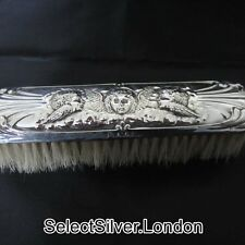 Antique Sterling Silver Clothes Brush, Cherub design, William Neale & Sons, 1913
