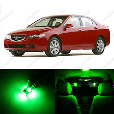 8 x Green LED Interior Lights Package For 2004 - 2008 Acura TSX US Seller
