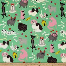 DOGS Fabric Fat Quarter Cotton Craft Quilting Poodles PARIS POOCHES Posh Paws