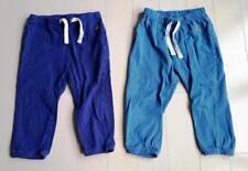 BABY GAP SET OF 2 LOT PYJAMA POCKET PANTS BLUE DRAWSTRING ( 18 - 24 MONTHS )
