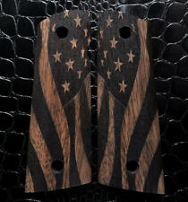 AMERICAN FLAG 1911 Colt/Clones MAGWELL Pistol Grips Full Size Walnut
