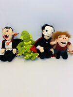 1999 Universal Studios Monsters Plush Set Of 4 NWT Dracula Phantom Creature +