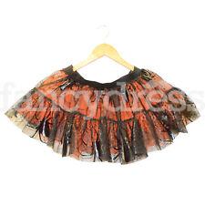 Ladies Spider Web Halloween Tutu Fancy Dress Costume Accessory Black Orange NEW