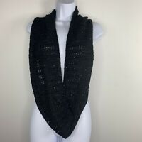 2 Chic Womens Infinity Scarf Black Fashion Accessory Sequined Bling New SG4