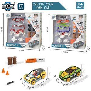 Metal Die Cast Car Kids Gift Set DIY Build Your Car Vehicle Children Play Toy