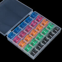 25Pcs/Set Empty Bobbins Sewing Machine Spools Storage Box for Sewing Machine YK