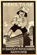 Kleinplakat H.Bahlsen's Keks-Fabrik Hannover KEKS TAGE Firmenwerbung von 1913