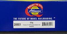 Athearn #28901 - HO Scale - TTX Trinity 57' All-Purpose Spine Car 3-Pack - NIB