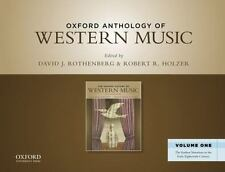 Oxford Anthology of Western Music: Volume One: The Earliest Notations to the Ear